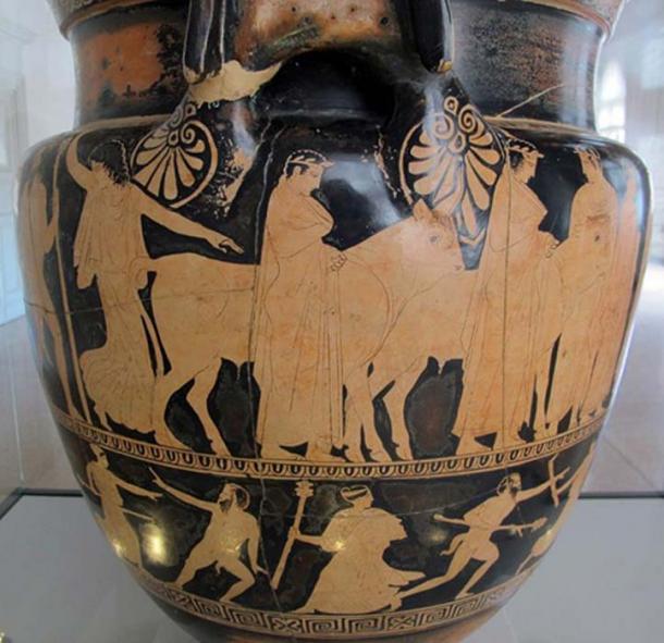 Hermes stealing Apollo's oxen. (Sailko / CC BY-SA 3.0)