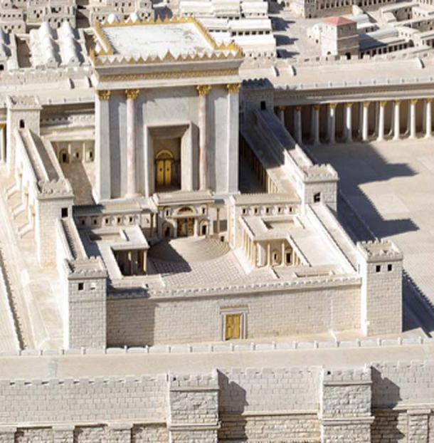 Herod's Temple as imagined in the Holy Land model of Jerusalem on exhibit at the Israel Museum, Jerusalem. (Berthold Werner / Public Domain)
