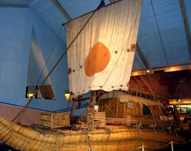 Thor Heyerdahl's raft Ra II, in the Kon-Tiki Museum, Oslo, Norway.
