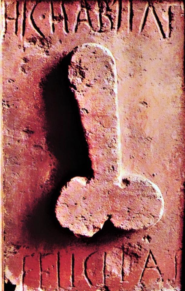 Hic habitat Felicitas, 'Here dwells happiness,' terracotta relief, 1st century AD