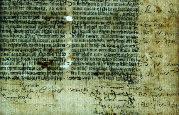 Hidden annotations were found mixed with biblical text in the 1535 Latin Bible.