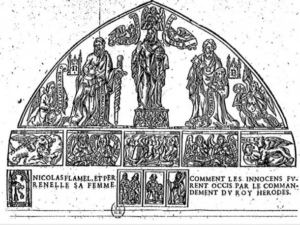 Hieroglyphic figures of Nicolas Flammel