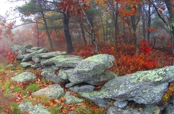 High elevation stone lining in New England