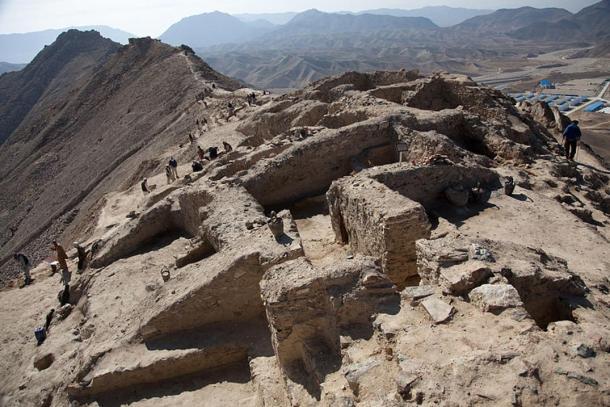 Hilltop archaeological site at Mes Aynak