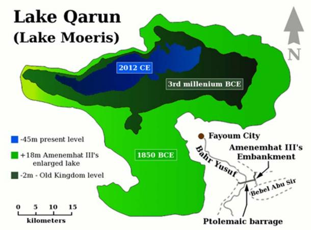 Historic water levels of Lake Moeris. (Author provided)