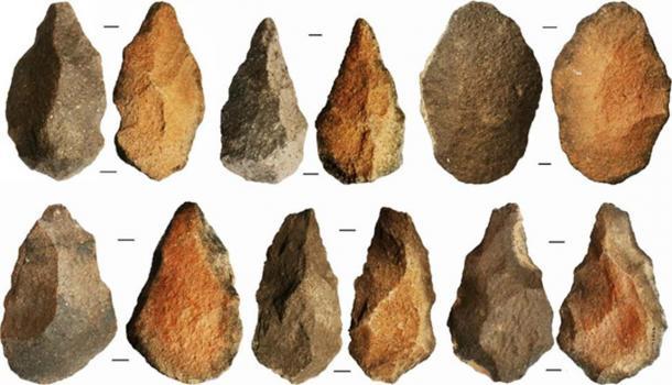 Homo erectus stone tools found at the site. (Shipton et al.)