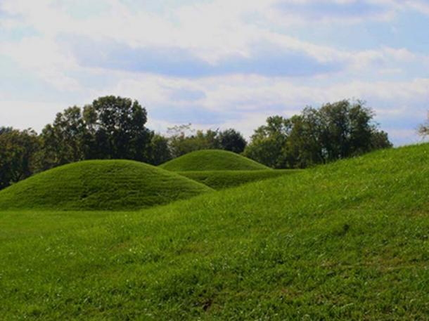 Hopewell mounds from the Mound City Group in Ohio
