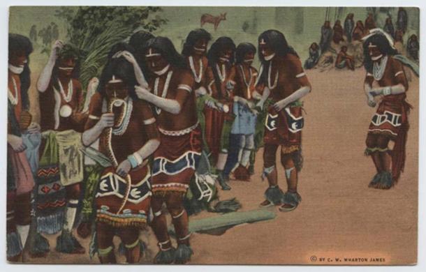 'Hopi Snake Dance' (1907) by C. W. Wharton James. (No Copyright Restrictions)
