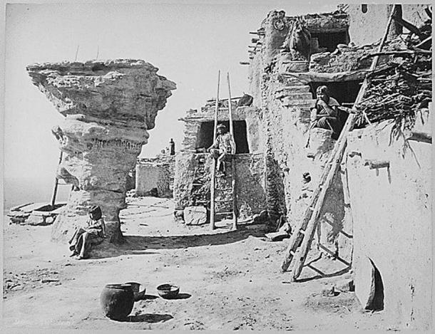 Hopi pueblo in Arizona, 1879.