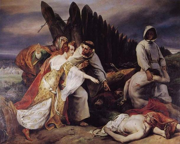 Horace Vernet's 1828 painting Edith Swanneck discovering King Harold's corpse on the battle field of Hastings (Horace Vernet / Public Domain)