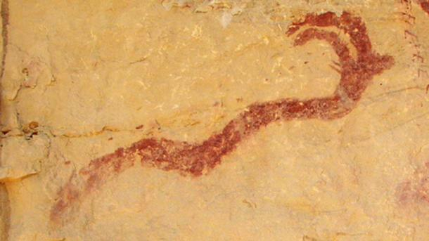 Horned Serpent in a Barrier Canyon Style Petroglyph, Western San Rafael Swell region of Utah, USA. (Markarian421/CC BY SA 3.0)