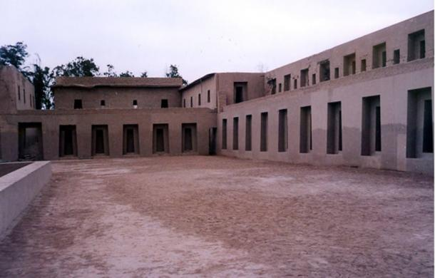 The House of the Sun Virgins, which has been reconstructed at Pachacamac.