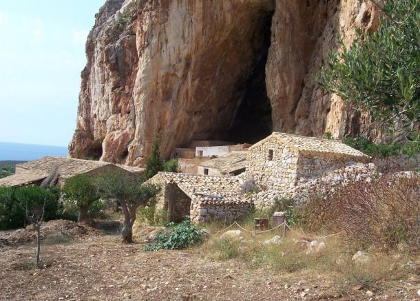 House outside the cave.