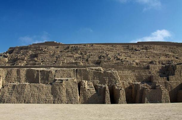 Part of the Huaca Pucllana archaeological site, Lima, Peru.