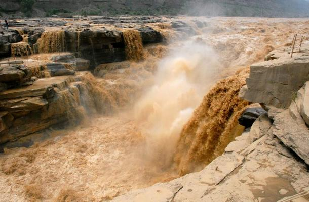 Hukou Waterfall of Yellow River, China.