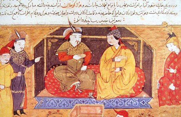 Hulagu Khan, founder of the Ilkhanate, with his Christian wife Queen Doquz Khatun. (Public Domain)