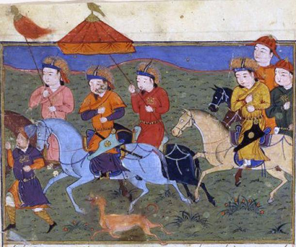 Hulagu and his army. 'Jami' al-tawarikh', Rashid al-Din. (Public Domain)