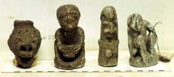 Human and animal looking Nomoli statues, British Museum