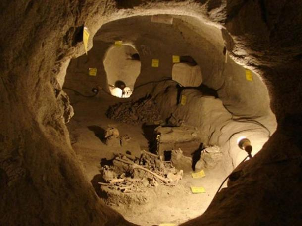 Human remains were discovered in the underground city of Nushabad, Iran.