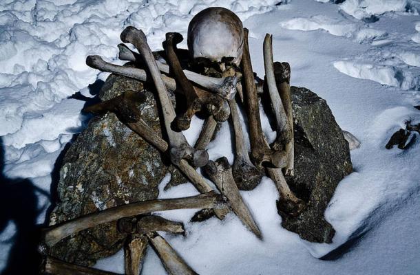 Human skeleton found at Roopkund Lake