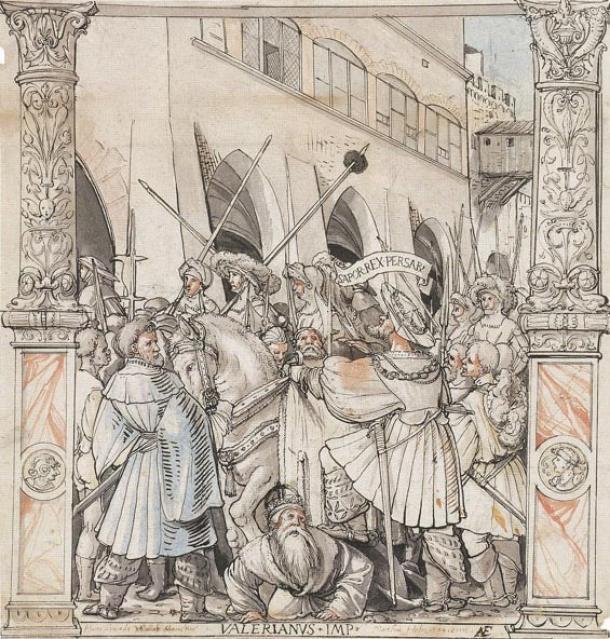La humillación del emperador Valeriano por Sapor, rey de Persia, de Hans Holbein