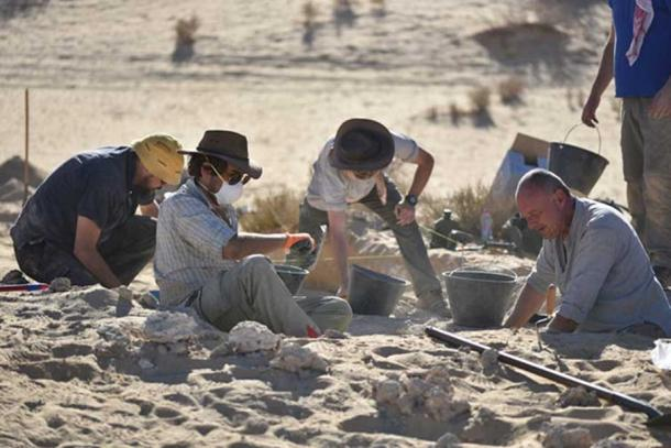 Hundreds of tools and animal bones were found but only one human fossil. (Klint Janulis/Michael Petraglia/Palaeodeserts Project)