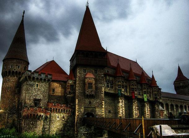 Hunyadi Castle in Hunedoara, Romania.