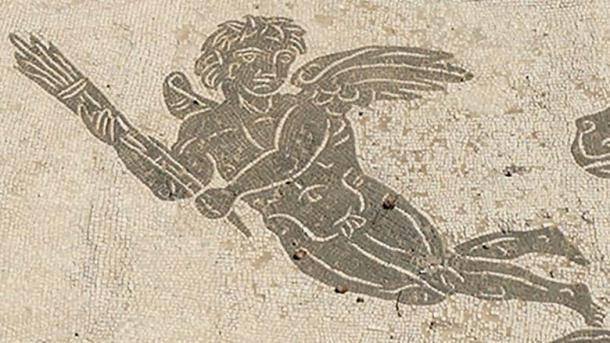 Hymenaios, God of wedding ceremonies Room 3 of the Baths of Neptune, Ostia Antica, Latium, Italy