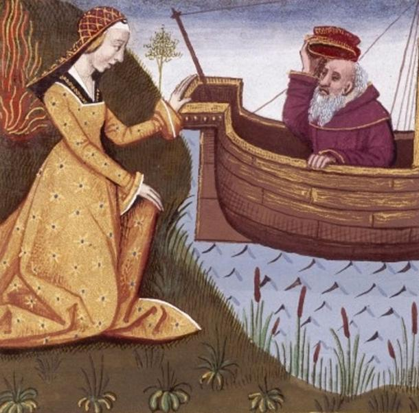 Hypsipyle saves her father Thoas by Français