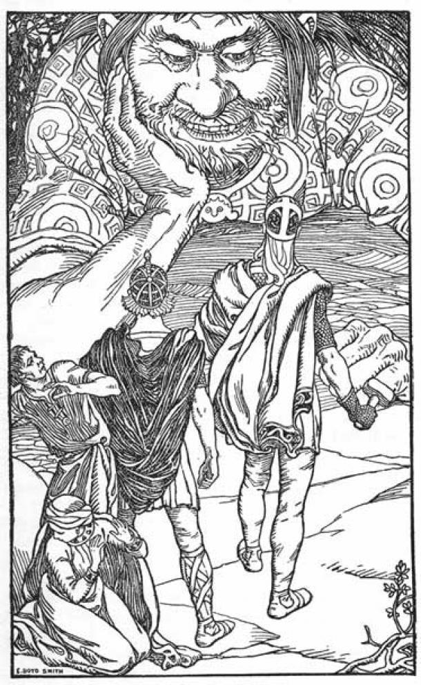 """""""I am the giant Skrymir"""" by Elmer Boyd Smith. ( Public Domain )"""