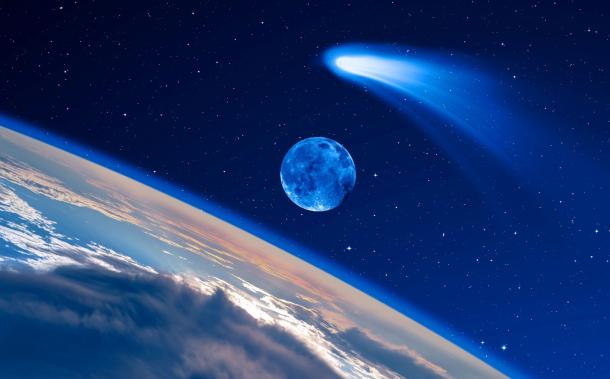 Hayley's Comet was not the Star of Bethlehem, but some other comet might have been. (muratart / Adobe Stock)