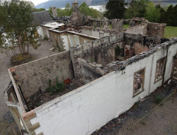 Boleskine House was destroyed by fire in 2019 and this is what's left today. (Boleskine House Foundation)