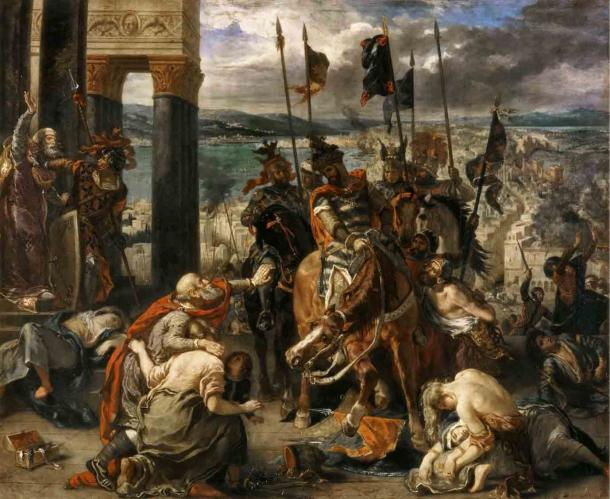 The crusaders entering Constantinople after it fell to the Latins in 1204 AD. (Eugène Delacroix / Public domain)