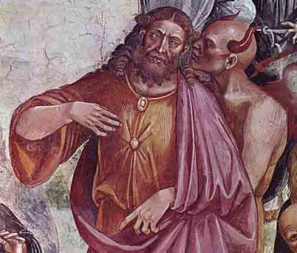 Luca Signorelli's 1501 depiction of the face of the Antichrist at the Orvieto Cathedral, Italy. (Luca Signorelli / Public domain)
