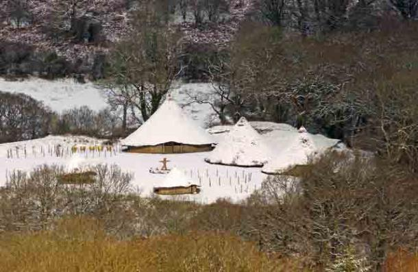Top Image: 'Wintry Day: Castell Henllys.' Plastic Age artifacts were found at the site of the dismantled roundhouses. Source: Dylan Moore/CC BY-SA 2.0