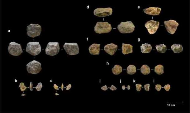 Selection of stone tools from Ewass Oldupa. (Mercader, J. et al. Nature 2021)