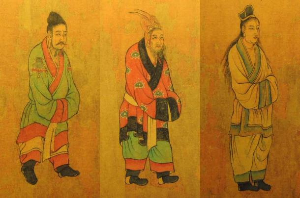 Tang dynasty painting of envoys from the Three Kingdoms of Korea: Baekje, Goguryeo, and Silla. (Public domain)