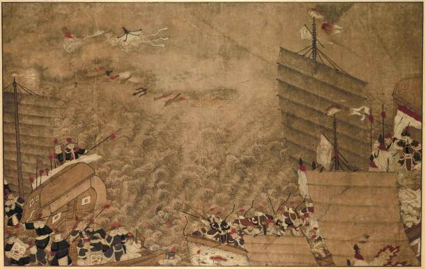 A sea battle between Japanese pirates and the Chinese in the Tang period. Jang Bogo trained in China's Shandong Province in this period and then did battle with the same pirates from his base on Wando Island, South Korea. (Rijksmuseum / Public domain)