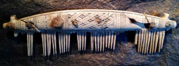 Decorated comb. Birka site museum. (M. Fuller, Birka – Swedish Viking Settlement)