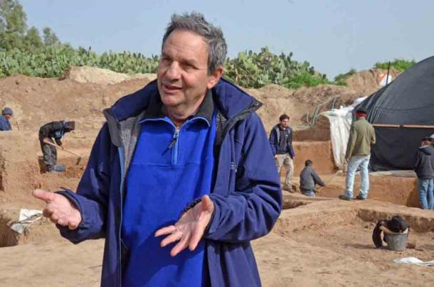 Dr Ianir Milevski of the Israel Antiquities Authority on site at Tel Erani, Israel. Dr Milevski was involved in the latest study on the ancient trade in exotic foods to the Southern Levant from South East Asia. (Yoli Schwartz / Israel Antiquities Authority)