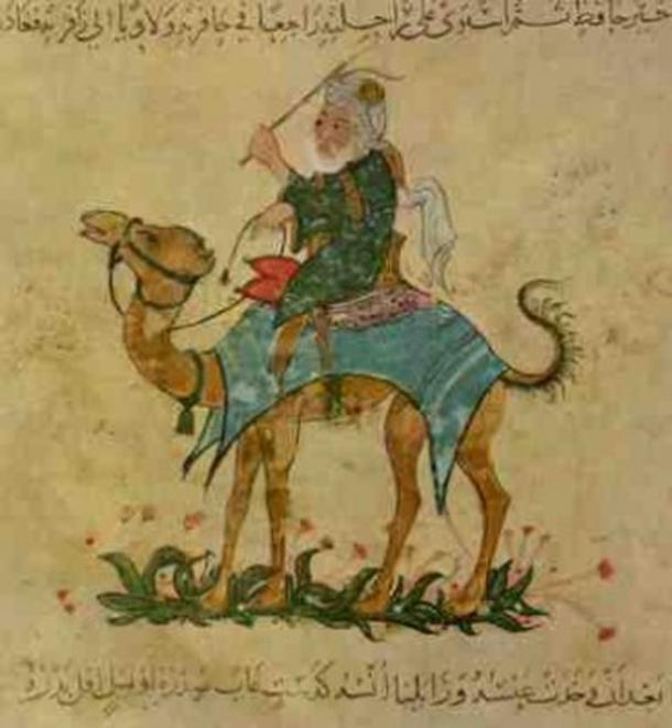 Ibn Battuta traveling by camel. (Public Domain)
