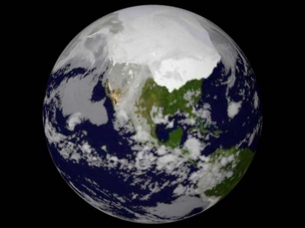 Artist's depiction of Ice Age on Earth.