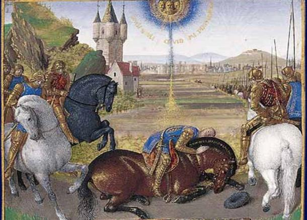 Illumination from 1450 depicting Paul's conversion – the bright light and sound come from the sky. The event was said to change Paul, and may have changed history.