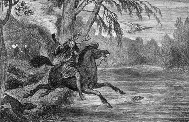 Illustration of Herne the Hunter by George Cruikshank (1840s).