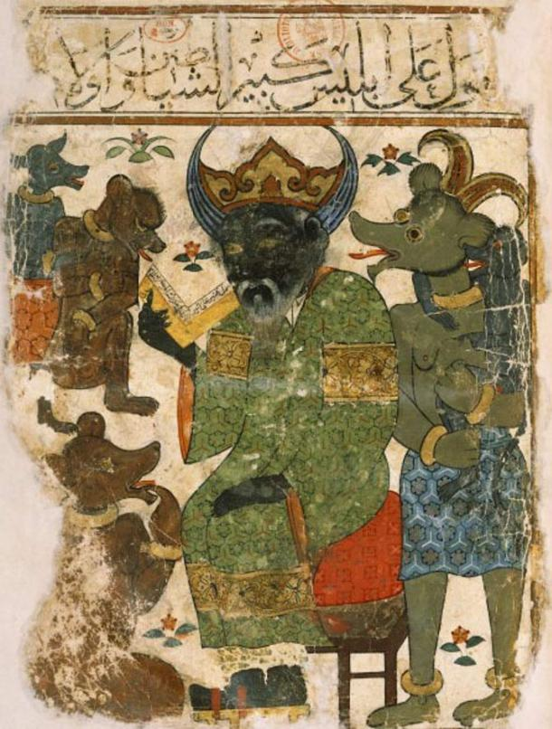 Illustration of Iblis better known as the Devil.