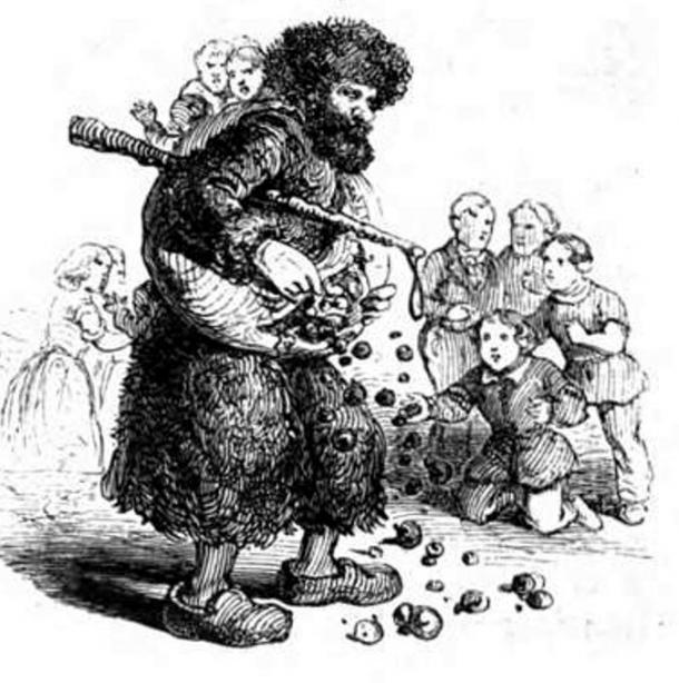 Illustration of Knecht Ruprecht, 1863.