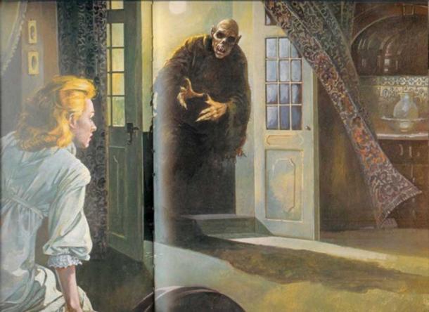 Illustration of a Vampire.