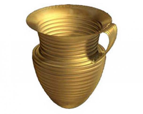Illustration of how the Ringlemere Cup might have originally looked. Credit: British Museum
