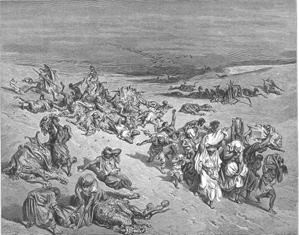 Illustration of the Biblical 'Fifth Plague of Egypt'. (Public Domain)