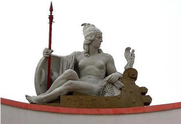 Illyrian Queen Teuta and The National Bank of Albania, Durres.